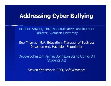 Cyber Bullying and
