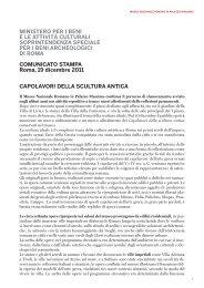 Cartella stampa - Soprintendenza archeologica di Roma - Ministero ...