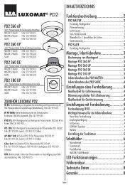 Bedienungsanleitung PD2 220V_NEW, deutsch.indd - Swisslux AG