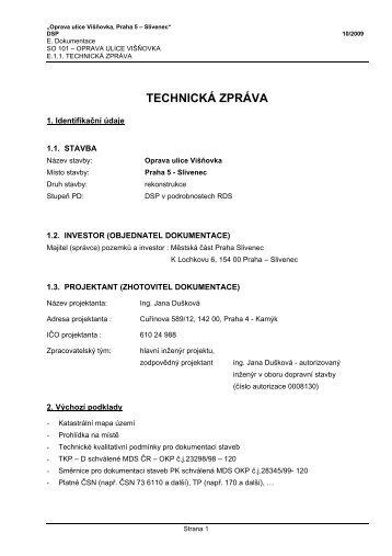 1. TZ kom_Višňovka.pdf - Praha-Slivenec