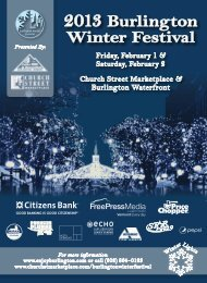 2013 Burlington Winter Festival - Burlington Parks and Recreation