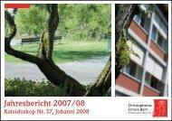 Jahresbericht 2007/08 - Christophorus-Schule Bern