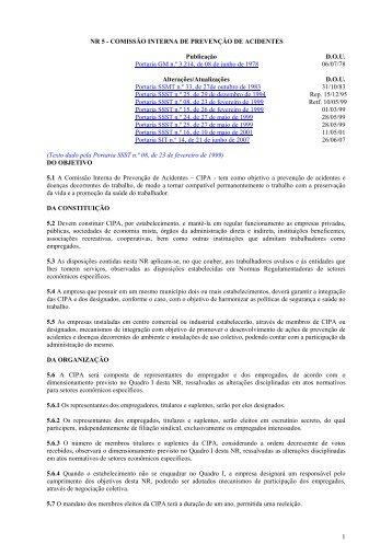 NR5 - Comisso Interna de Preveno de Acidentes