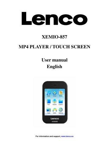 user s manual xemio 653 media player lenco rh yumpu com hott mp4 player user manual mp3 player user manual