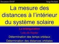 Les distances dans le système solaire