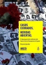 Casos cerrados, heridas abiertas - Centro de Documentación de ...