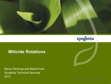 Miticide Rotations