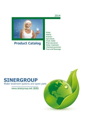 Sinergroup Maintenance Water Softeners Catalog