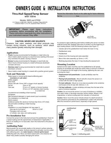 garmin in hull transducer installation instructions
