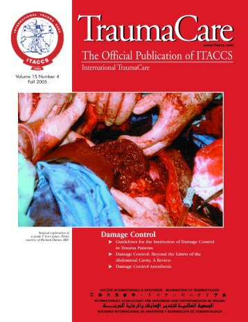 Table of Contents - International Trauma Anesthesia and Critical ...