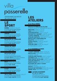Programme de juillet de La Villa et de La Passerelle - Ville de Pont ...