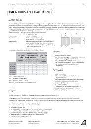 Warengruppe 7: Schalldämpfung & Schalldämmung - Aumayr GmbH