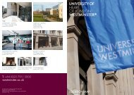 HEART OF LONDON - University of Westminster