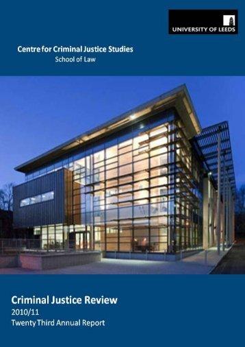 Centre for Criminal Justice Studies CRIMINAL ... - School of Law