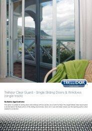 Trellidor Clear Guard - Single Sliding Doors & Windows (single track)