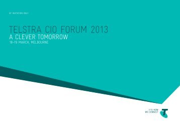 TelsTra CIO FOrUM 2013 - Business & Enterprise