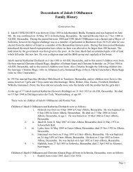 Descendants of Jakob I Ohlhausen Family History - of Ohlhausen.ca