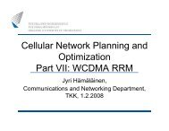 Cellular Network Planning and Optimization Part VII: WCDMA RRM