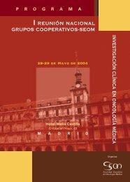 investigación clínica en oncología médica - Sociedad Española de ...