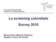 Survey - Osservatorio Nazionale Screening