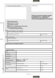 Antrag auf ambulante Eingliederungshilfe für behinderte oder von ...
