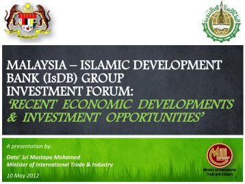 recent economic developments & investment opportunities
