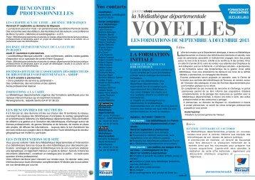 Télécharger le Voyelle Formation N°20 de septembre à décembre ...