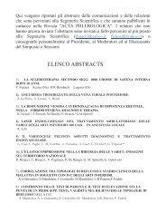 ELENCO ABSTRACTS - Terapia compressiva
