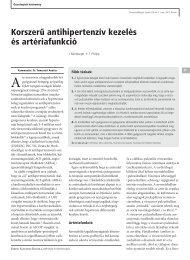 Korszerű antihipert.. - arteriograf.hu