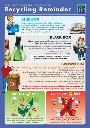 Recycling Reminder - North Hertfordshire District Council