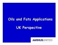 Oils and Fats Applications UK Perspective - American Palm Oil ...