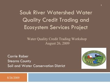 Sauk River Watershed Water Quality Credit Trading and Ecosystem ...