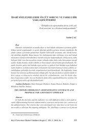 idari sözleşmelerde ölçüt sorunu ve farklı bir ... - Gazi Üniversitesi