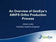 An Overview of GeoEye's AWiFS Ortho Production Workflow