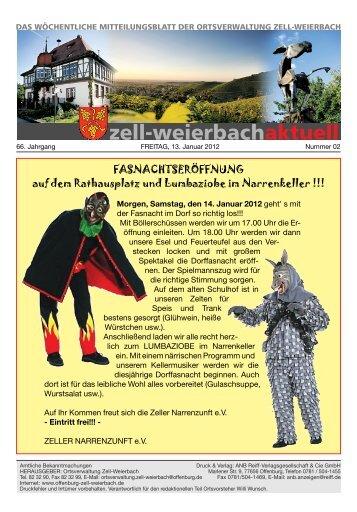 Mitteilungsblatt kw 02-2012.pdf - Zell-Weierbach