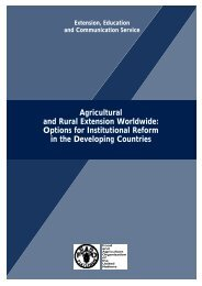 Agricultural and Rural Extension Worldwide: Options for ... - FAO.org