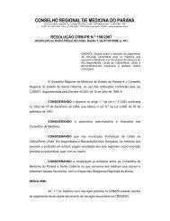 conselho regional de medicina do paraná - Sindicato dos Médicos ...