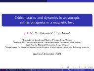 Critical statics and dynamics in anisotropic antiferromagnets in a ...