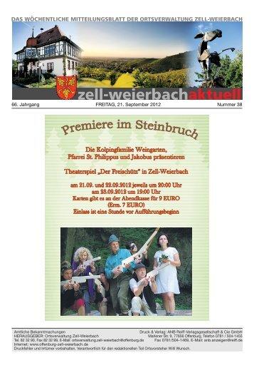 Mitteilungsblatt kw 38-2012.pdf - Zell-Weierbach