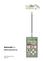 batcorder 3.0 - ecoObs GmbH
