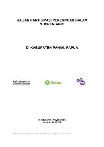 Kajian Partisipasi Perempuan dalam Musrenbang di ... - Kalyanamitra