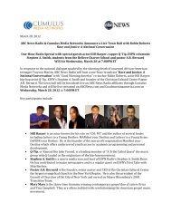 March 28, 2012 ABC News Radio & Cumulus Media Networks ...