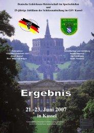DM 2007 in Kassel - DGS-Sportschiessen