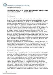 Die Umkehr des älteren Sohnes - EMK Kloten-Glattbrugg