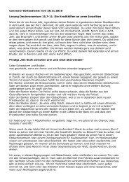 Die Kluft zwischen arm und reich überwinden - EMK Kloten-Glattbrugg