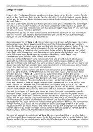 Wäge für was? (Martina Wüest, 7.8.2011) - EMK Kloten-Glattbrugg