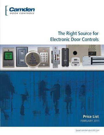 Camden Feb 2011 Pricelist.pdf - Access Hardware Supply