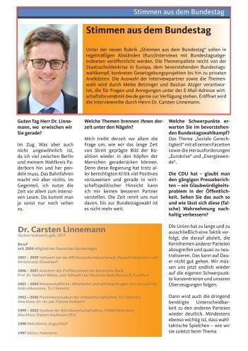 Stimmen aus dem Bundestag - Carsten Linnemann