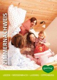 Zimmernachweis - Stadtmarketing & Tourismus Liezen