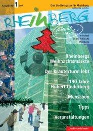 Stadtmagazin Rheinberg • Ausgabe Nr.1